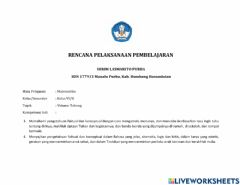 Interactive worksheet Latihan menentukan volume Tabung