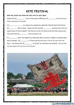 Interactive worksheet Kite Flying Festival in Japan KET exercise