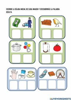 Interactive worksheet Palabras secretas