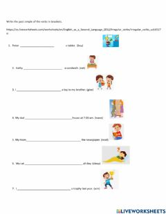 Interactive worksheet Past simple form