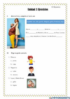 Interactive worksheet 24.03Ejercicios