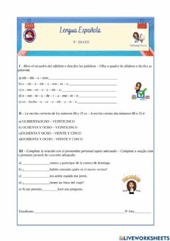 Interactive worksheet Clase inicial