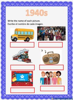 Interactive worksheet Historical Periods London