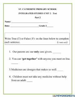 Interactive worksheet Safety at Home, School and on the Road