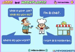 Interactive worksheet Jobs and Workplaces