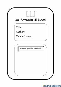 Interactive worksheet My Favourite Book!