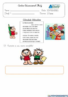 Interactive worksheet Nome completo
