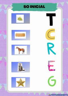 Interactive worksheet So inicial