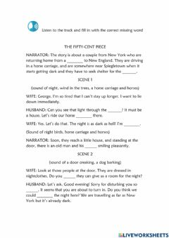 Interactive worksheet 6th Grade - Unit 3 Lesson 2 - The fifty-cent piece