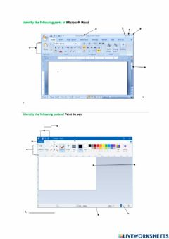 Interactive worksheet msword and mspaint PENIEL