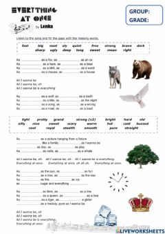 Interactive worksheet Everything at once - by Lenka