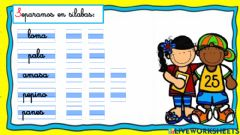Interactive worksheet Silabeo