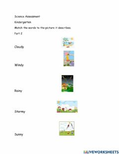 Interactive worksheet Science 2