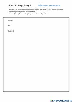 Interactive worksheet Email about my weekend