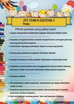 Interactive worksheet IPS Tema 8 Subtema 3