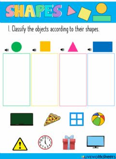 Interactive worksheet Shapes Review