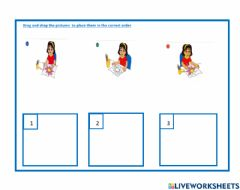 Interactive worksheet Pictures in order