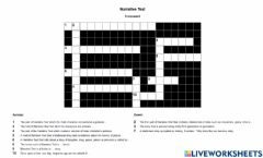 Ficha interactiva Crossword narrative text