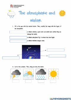 Interactive worksheet Unit 2 - The atmosphere and water