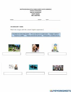 Interactive worksheet Environmental problems solutions