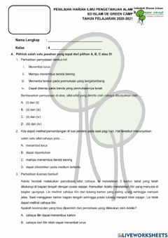 Interactive worksheet PH IPA Cahaya
