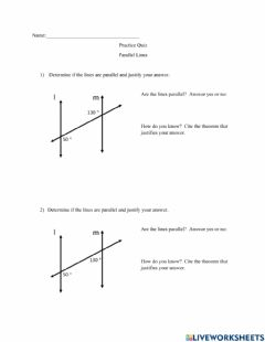 Interactive worksheet Proving Lines are Parallel
