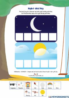 Interactive worksheet Sing Me The Summer - Night and Day