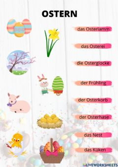Interactive worksheet Ostern ubung 2