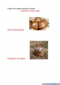 Interactive worksheet Easter traditions