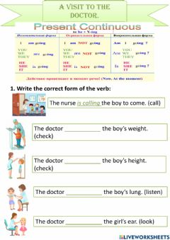 Interactive worksheet A visit to the doctor