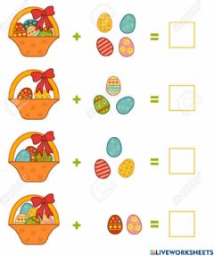 Ficha interactiva Easter counting eggs