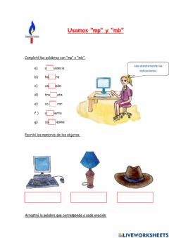 Interactive worksheet Uso de mp mb