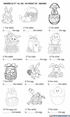 Ficha interactiva Easter: write the correct one