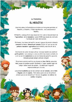 Interactive worksheet El Neolític