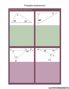 Interactive worksheet Triangles Assessment