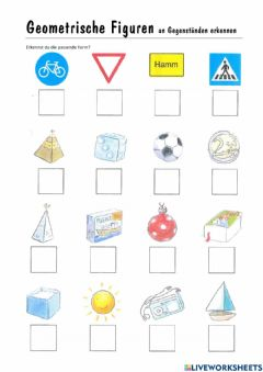 Interactive worksheet Geometrische Figuren