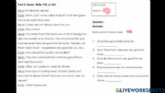 Interactive worksheet L3 read and choose yes-no
