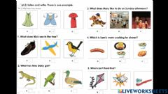 Interactive worksheet Movers Listening part 4