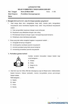 Interactive worksheet Lat PAT PKN
