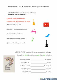 Interactive worksheet Unite 3.