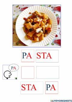 Interactive worksheet Sillabe lettera P