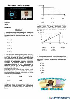 Interactive worksheet Cinemática - MRU
