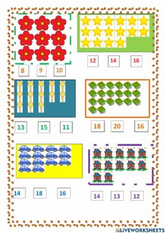 Interactive worksheet Count and find
