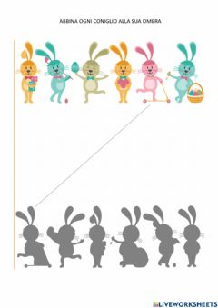 Interactive worksheet Coniglio Pasqua