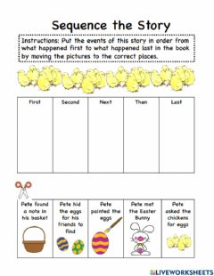 Interactive worksheet Pete the Cat Easter