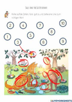 Interactive worksheet Sally and the Easter bunny