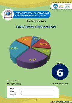 Interactive worksheet LKPD Diagram Lingkaran