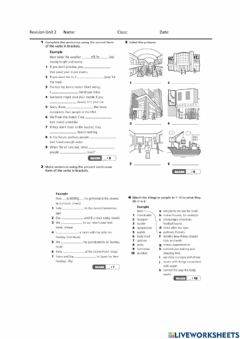Interactive worksheet Project 5 Unit 2