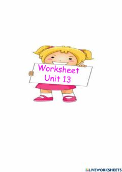 Ficha interactiva Worksheet