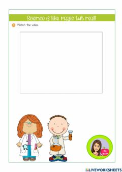 Ficha interactiva What is a scientist? 2nd grade